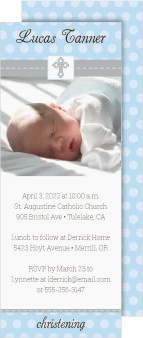 Blessed Cross Christening Invitation Cards
