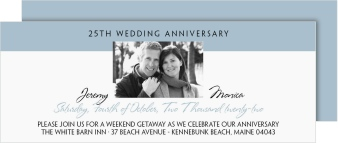 An Elegant Affair Anniversary Invitation Cards