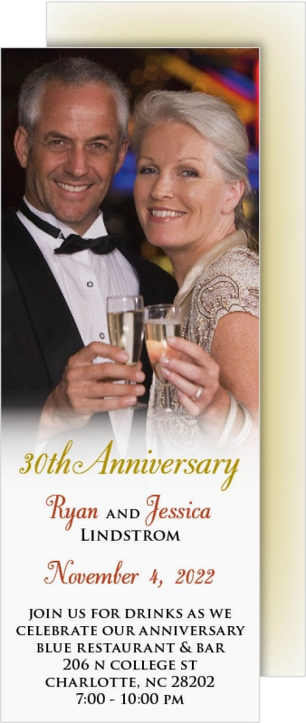 True Love Display Anniversary Invitation Cards