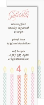 Charming Birthday Candles Birthday Party Invitations