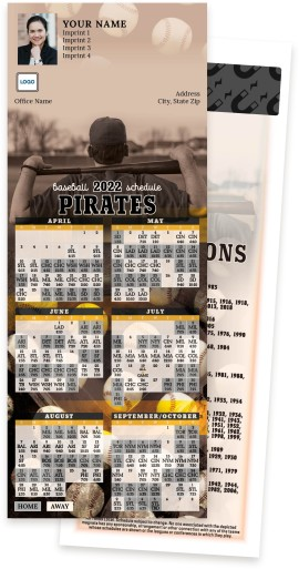 Pirates Baseball Schedule MagnetCards