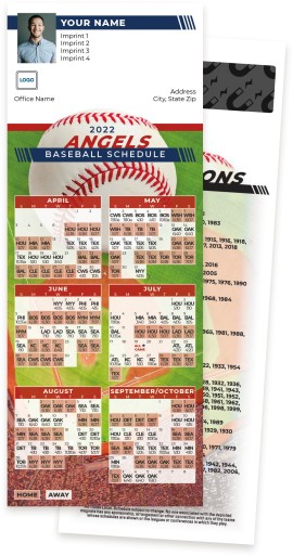 Angels Baseball Schedule MagnetCards