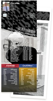 Raiders + Stanford + California Football Schedule Magnets