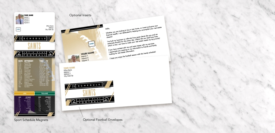 MagnetCard with Optional Inserts and Optional Envelopes