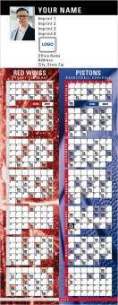 Red Wings & Pistons Hockey & Basketball Schedule Magnets