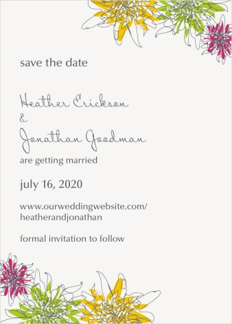 In Full Bloom Save the Date Postcards