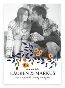 Perfectly Plaid Save the Date Postcards