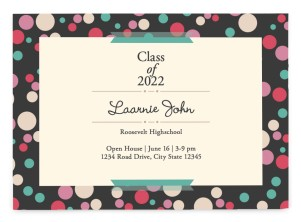 Dotted Diploma Graduation Announcement Postcards
