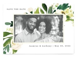 Wedding Florals Save the Date Postcards