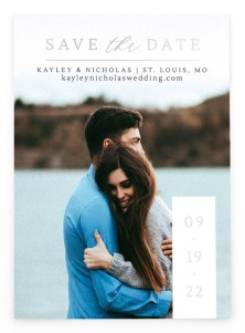 Date Block Save the Date Postcards