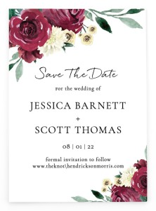 Floral Touch Save the Date Postcards