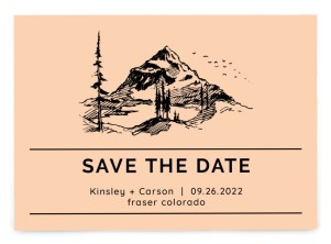 Mountain Romance Save the Date Postcards