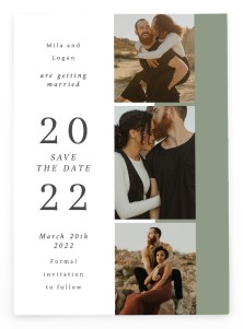 Stacked Hearts Save the Date Postcards