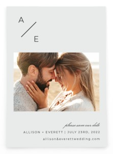 Initial Hush Save the Date Postcards