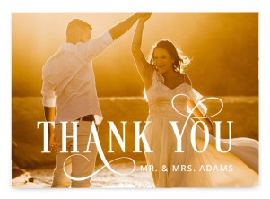 Love Infinity Thank You Postcards