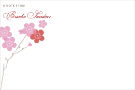 Modern Cherry Blossoms Personal Stationery
