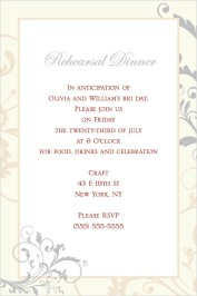 Classic Allure Rehearsal Dinner Invitations