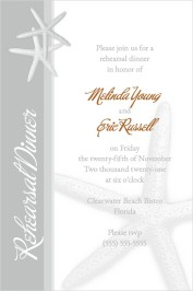 Starfish Rehearsal Dinner Invitations