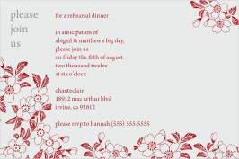 Apple Blossoms Rehearsal Dinner Invitations