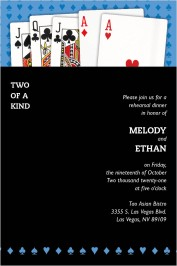 Two of a Kind (Playing Cards) Rehearsal Dinner Invitations