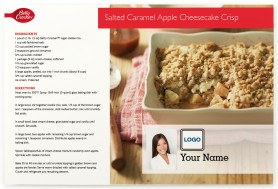 Salted Caramel Apple Cheesecake Crisp Postcards