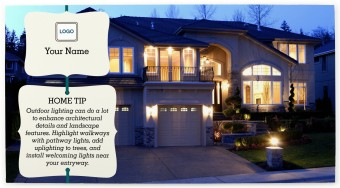 Home Tip - Exterior Lighting Postcards