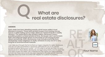 Disclosures Revealed Real Estate Postcards
