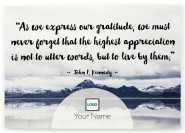 Inspiration - Expressed Gratitude Postcards