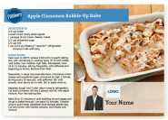 Apple Cinnamon Bubble- Up Bake Postcards