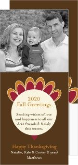 Creative Turkey Ornament Thanksgiving Cards