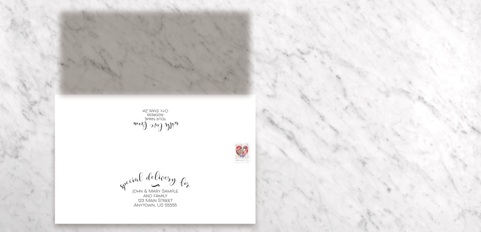 Save the Date Card with Optional Guest Addressing Service
