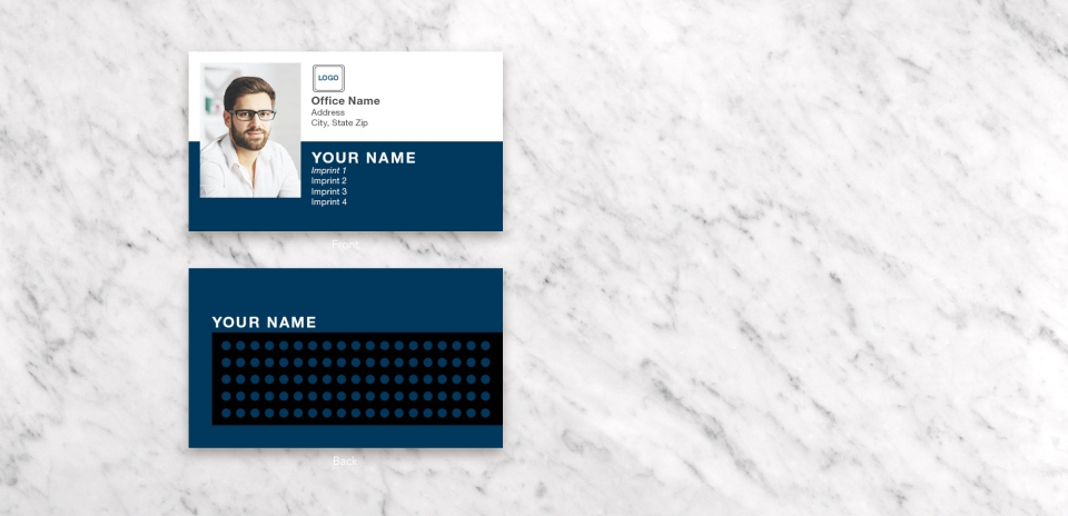 Paper Business Card Front & Back View
