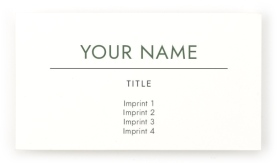 Simple Logo Paper Business Cards