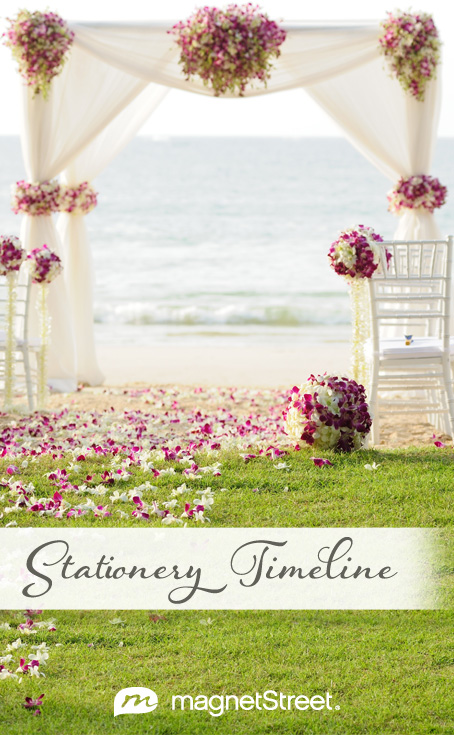 Wedding Stationery Timeline When To Order Mail Your Stationery