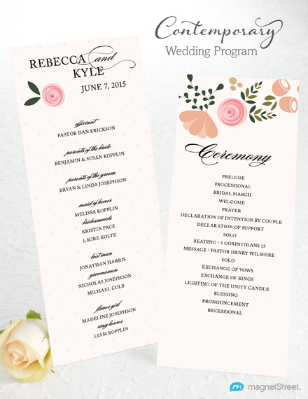 Wedding program wording magnetstreet weddings contemporary program wording stopboris Image collections