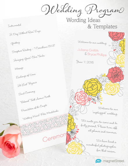 Wedding Program Wording Ideas