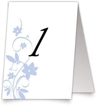 Floral Flourish Wedding Table Numbers