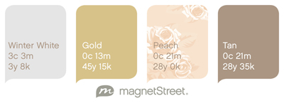 Floral wedding color palette