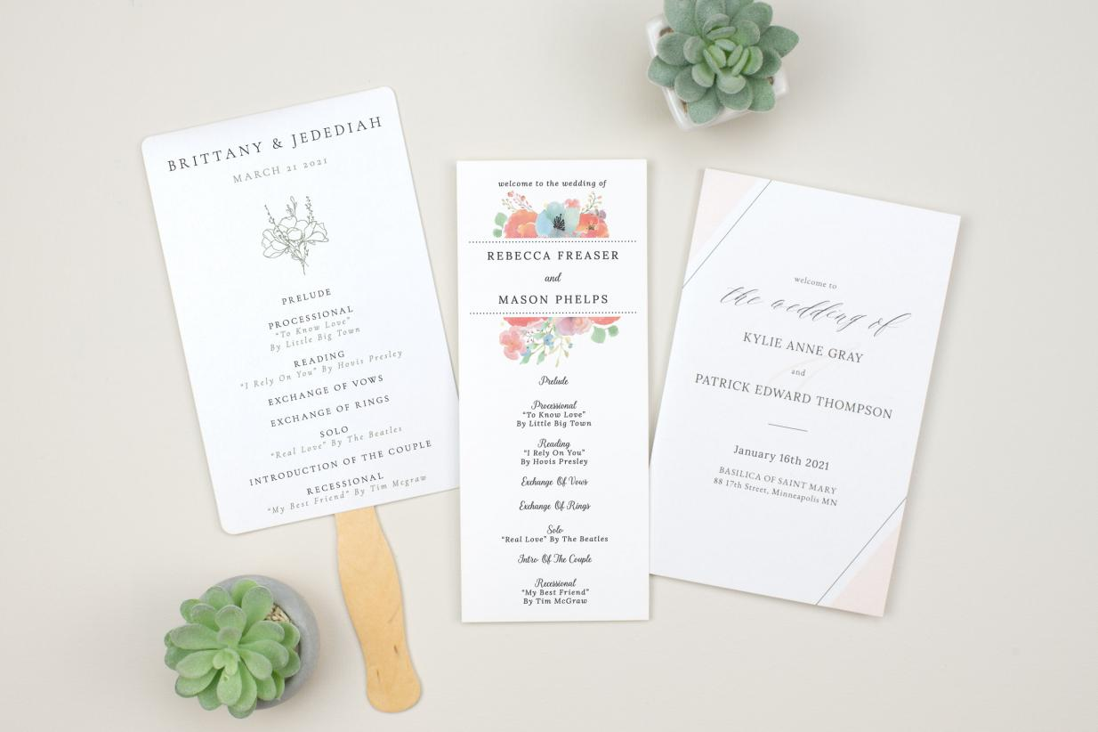 Wedding Programs: Tea-Length vs Half-Fold vs Program Fans