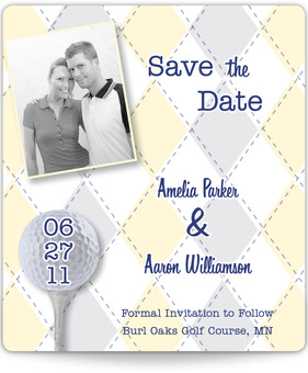 Golf-themed Save the Date Magnet