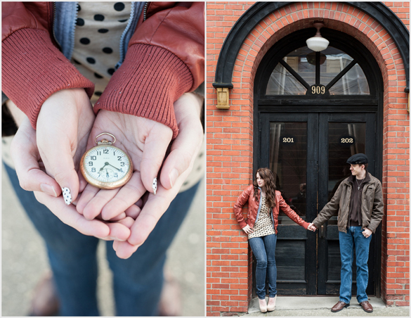 Vintage engagement shoot by B. Jones Photography
