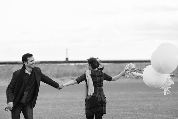 Montrose Beach engagement photos by Emily Alt Photography