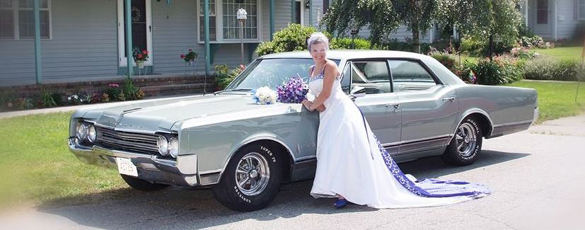 Classic wedding car by Studio One Photography