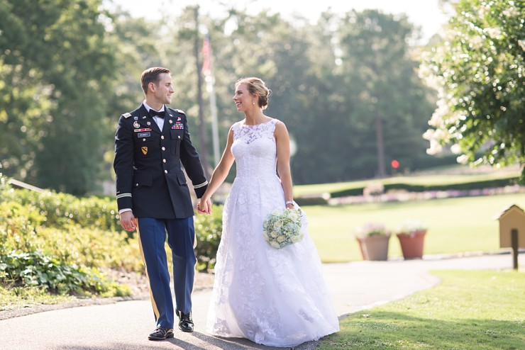 A Romantically Classic Military Wedding in North Carolina