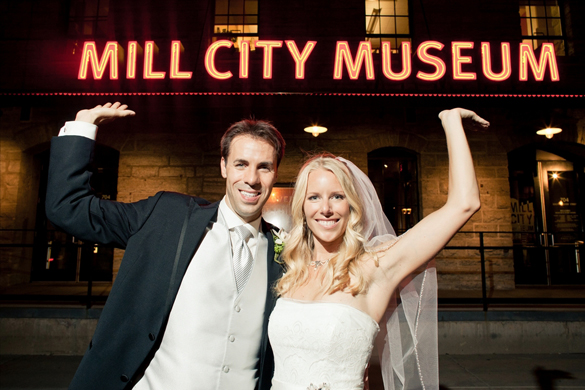 Minneapolis, Minnesota real wedding at the Mill City Museum